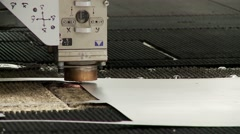 Machine tools for metal cutting Stock Footage