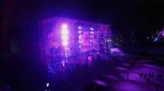 Pavilion facade with light show during festival Circle of Light Stock Footage