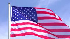 4K American Flag Waving in the wind Stock Footage