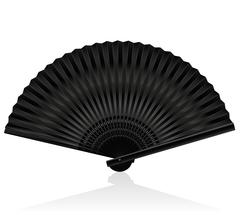 Handheld Fan Black Stock Illustration