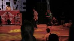 Stock Video Footage of Teenagers are Dancing Breaking on The Dance Floor