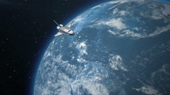 Space Shuttle above the Earth. Elements of this image furnished by NASA. Stock Footage