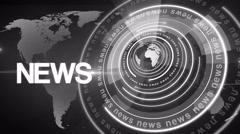 Abstract circle round news background 4K colorless Stock Footage