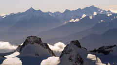 French Alps Mountains Clouds Chamonix, France 5K HD Stock Footage Stock Footage