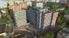 Buildings site of residential complex ReForm at autumn Stock Footage