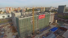 Residential complex under construction not far from Moscow city court Stock Footage
