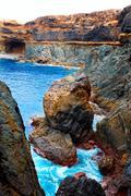 Ajuy Caleta Negra beach in Fuerteventura Stock Photos