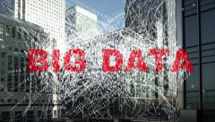 Big data - information being collected from Financial district towers. Stock Footage