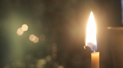 The Candle Burns And Goes Out. Macro candle and wick. time Lapse. - stock footage