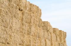 Straw Bales Horizontal Stock Photos