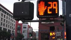Three counter at crosswalk - stock footage