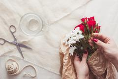 Making special bouquet Stock Photos