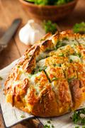Homemade Cheesy Pull Apart Bread - stock photo