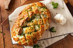 Homemade Cheesy Pull Apart Bread Stock Photos