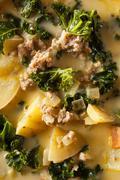 Homemade Warm Creamy Tuscan Soup Stock Photos
