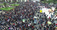 Protest nationwide strike against the pension reforms greece Stock Footage