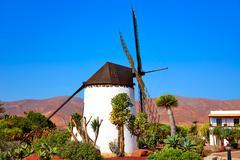 Antigua Windmill Fuerteventura at Canary Islands - stock photo