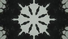 Black  Kaleidoscope Stock Footage
