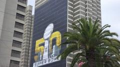 San Francisco hosting Super Bowl 50 Stock Footage