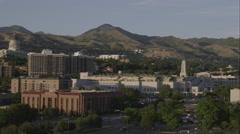 Panorama shot of Salt Lake City downtown. Stock Footage
