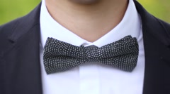 the bow tie - stock footage