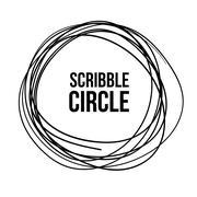 Scribble Circle Vector - stock illustration