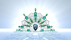 Art Deco Tiara Stock Illustration