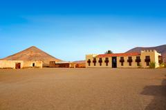 Casa de los Coroneles Fuerteventura La Oliva - stock photo