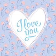 Valentine I Love You Vector Lettering stylish text Stock Illustration