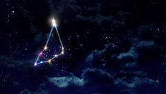 Capricorn horoscopes of zodiac sign night Stock Footage