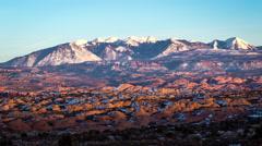 La Sal Mountain Sunset Stock Footage