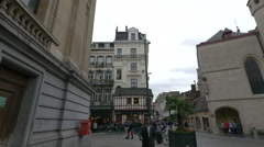 The Danish Tavern seen from Rue du Midi in Brussels Stock Footage