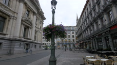 Rue Henri Maus seen in the afternoon in Brussels Stock Footage