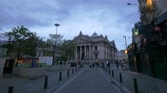 Brussels Stock Exchange building seen from Jules Van Praet street in Brussels Stock Footage