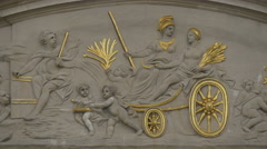 Bas relief of La Maison des Ducs de Brabant in Grand Place in Brussels Stock Footage
