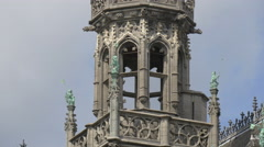Balcony at the City Museum's tower in Grand Place, Brussels Stock Footage