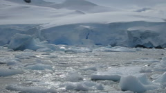Avers Island ice field, Antarctica Stock Footage