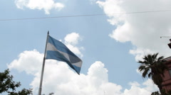 Argentina flag waving Stock Footage