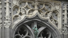 Details on the Brussels City Museum's facade Stock Footage