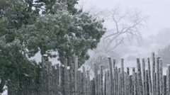 Northern New Mexico Snow Storm - stock footage