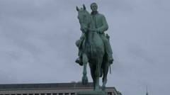 Equestrian statue of King Albert I in Brussels - stock footage