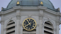 The clock of Saint Jacques-sur-Coudenberg Church, Brussels Stock Footage