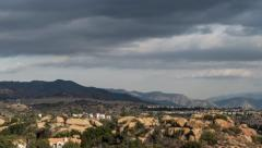 Storm Clouds Time Lapse with Zoom over Porter Ranch in Los Angeles Caiforn Stock Footage