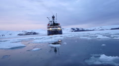 Cruising Deception Bay, Antarctica with National Geographic Stock Footage