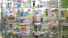 The buyer in pharmacy Stock Footage