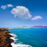 Punta Jandia Fuerteventura and Puerto de la Cruz Stock Photos