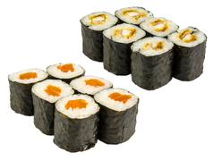 Japanese roll isolated Stock Photos