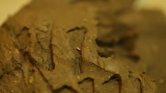 Sumerian writing on clay tablet mesopotamia Stock Footage