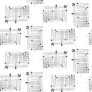 Dash on white background mimic ink seamless pattern - stock illustration