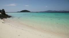 Beautiful beach and tropical sea Stock Footage